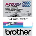 LETTERTAPE BROTHER P-TOUCH TX251 24MM WIT/ZWART